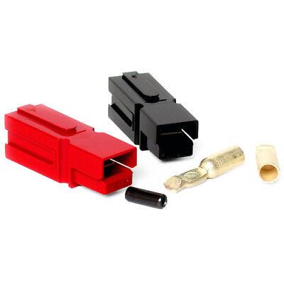 75 Amp Unassembled Redblack Anderson Powerpole Connectors 6 Gauge 2 Sets