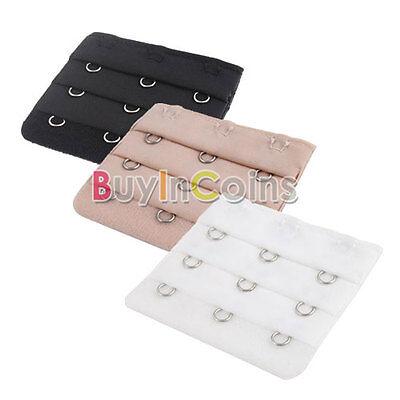 3 * Bra Extender Strap Clip 3 Hooks Supplies Replacement Lingerie Pocket