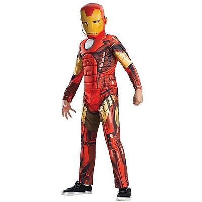 Avengers Assemble Deluxe Iron Man Muscle Chest Kids Costume (Kids Ironman Costumes)