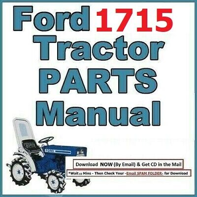 Ford 1715 3 Cylinder Compact Diesel Tractor Master Illustrated Parts Manual