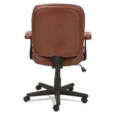 Oif St4859 Swiveltilt Leather Task Chair, Fixed T-bar Arms, Chestnut Brown 9