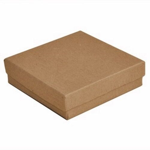 """Wholesale Lot 200 Kraft Brown Cotton Filled Jewelry Packaging Gift Boxes 3 1/2"""""""