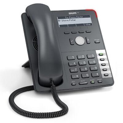 Snom Sno-715 Business Phone Lync Qualified W 4 Line Backlit B W Display New