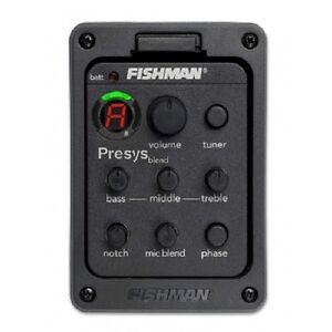 FISHMAN presys blend 301 Dual Mode Guitar Preamp EQ Tuner Piezo Pickup Mic Beat