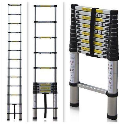 16.5ft Aluminium Telescopic Ladder Extension Foldable Multi-purpose Steps En131
