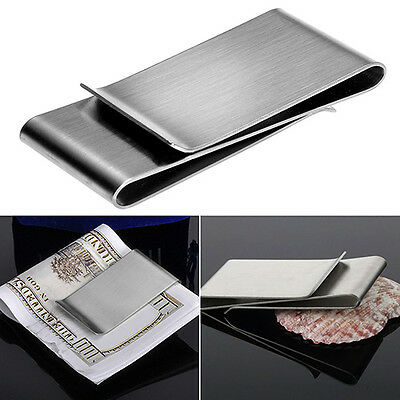 Stainless Steel Double Sided Money Clip Men's Wallet Credit Card Holder 10-3
