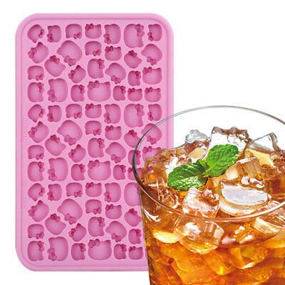 Hello Kitty Face Shaped Baking And Ice Cube Tray Silicone Molds Cute Design