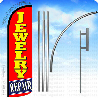 Jewelry Repair - Windless Swooper Flag Kit Feather Banner15 Tall Sign - Rq