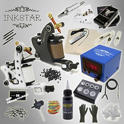 - Complete Tattoo Kit Professional Inkstar 2 Machine JOURNEYMAN Set GUN Black Ink