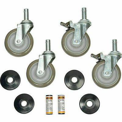 Nexel 800289 Stem Caster Set 4 5 X 1 14 Gray Polyurethane Wheels