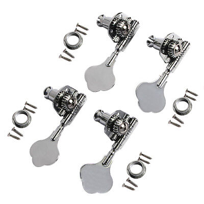 Bass Guitar Tuning Keys Pegs Tuners Machine Heads For Jazz P Parts Chrome 4R