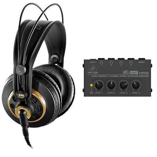 AKG K 240 Studio Professional Semi-Open Stereo Headphones w/ Headphone Amplifier