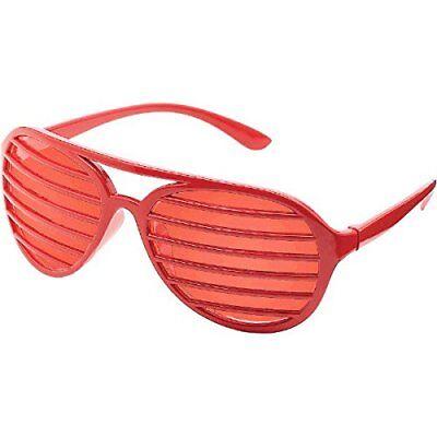Fun Shades Shutter Shades Slot Glasses, Red, 1 Pair