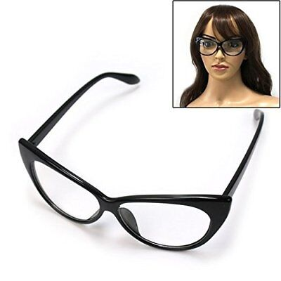 Cat Eye Glasses Vintage Inspired Black Frame Clear Lens Eyewear Boolavard® (Vintage Inspired Eyeglasses)