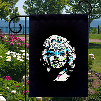 Sugar Skull Marilyn Monroe New Small Garden Yard Flag Home, Day of the Dead