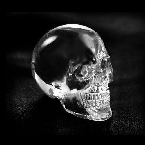QUARTZ ROCK CRYSTAL Carved Crystal Skull/Head Healing,Crystal Healing #S013