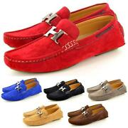 Mens Suede Slip on Shoes