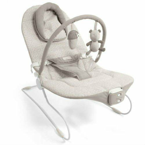 Mamas + Papas 'Bramble Bear' Baby Bouncer - Music or vibrate Exc.Condition