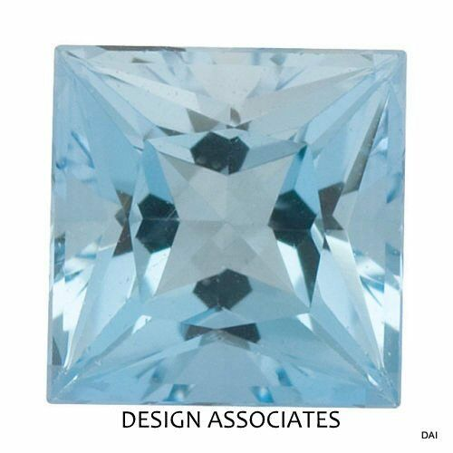 AQUAMARINE 5 MM SQUARE CUT OUTSTANDING BLUE COLOR ALL NATURAL