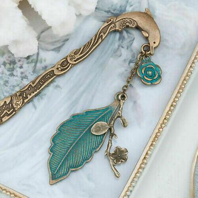 Antique Bronze Dolphin Head Bookmark Reading Book School Findings