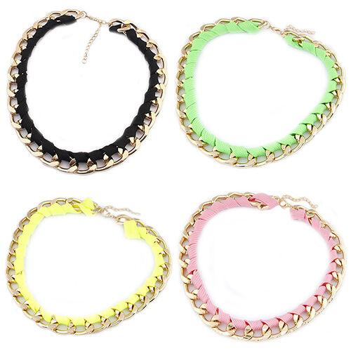 Stylish Women's Chain Necklace Collar Statement Choker Punk Party Jewelry Gift