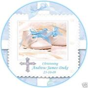Christening Icing Cake Toppers