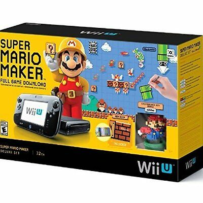 Super Mario Maker Console Deluxe Set Nintendo Wii U 32GB Very Good (Nintendo Wii U Super Mario Maker Console)
