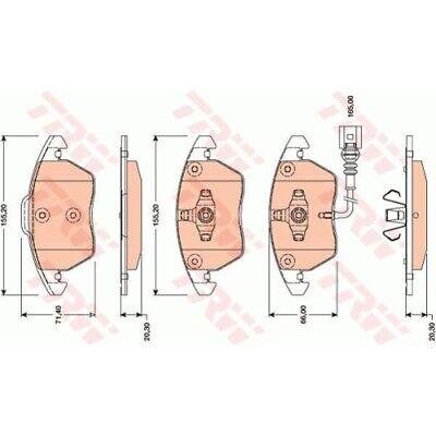 1 Bremsbelagsatz, Scheibenbremse TRW GDB1807 COTEC passend für AUDI VW