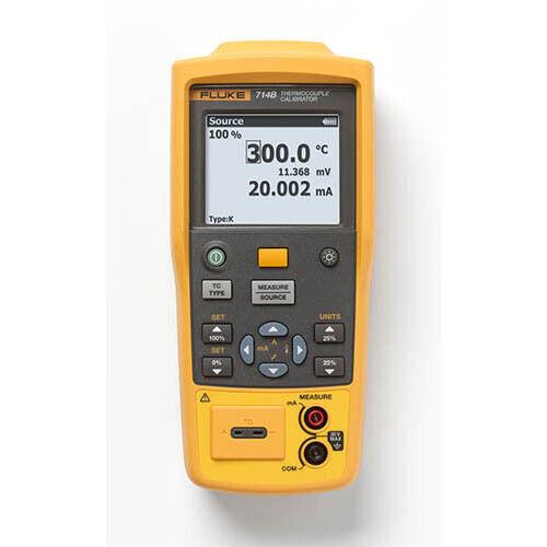 Fluke 714B Temperature Calibrator, 17 Thermocouple Types/Millivolts