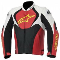 ALPINESTARS JAWS LEATHER JACKET RED/JAQUETTE DE MOTO