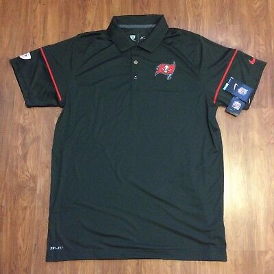 NEW Nike NFL On Field Team Apparel Tampa Bay Dri-Fit Polo Golf Shirt 746341 SZ L