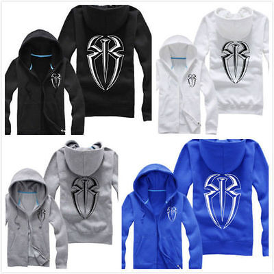 WWE Punk Roman Reigns Hooded jacket hoodie Coat free shipping - Roman Reigns Costume