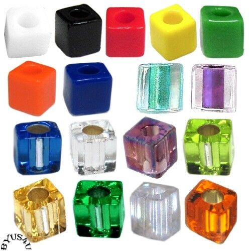 cube glass beads 4mm choice of color