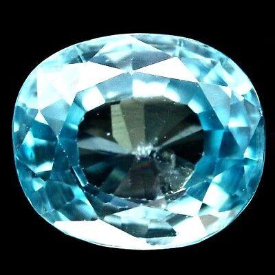 TOP ZIRCON : 3,46 Ct Natürlicher Blau Zirkon aus Kambodscha