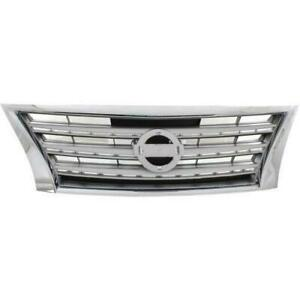 2013-2015 Nissan SENTRA Grille Chrome/Silver