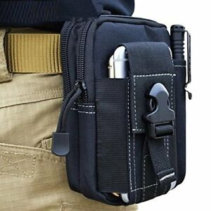 Tactical Military Molle Utility Belt Waist Phone Bag - Black