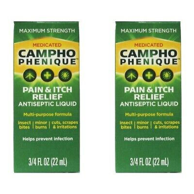2 Pack - Campho-Phenique Pain Relieving Antiseptic Liquid, 0.75oz Each Pain Relieving Antiseptic