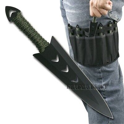 Купить TAC EDGE - 6PC Ninja Naruto Tactical Combat Hunting Kunai Throwing Knife Set w/ Sheath CASE