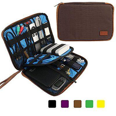 Khanka Portable Universal Electronics Accessories Travel Carrying Organizer Case