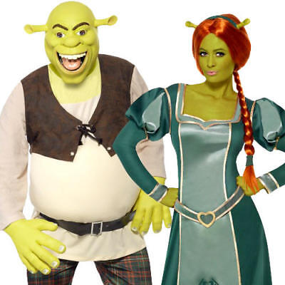 Shrek Ogre Adults Fancy Dress Halloween Fairy Tale Book Day Womens Mens Costumes (Halloween Costumes Shrek)