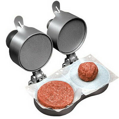 Weston Double Hamburger Patty Maker Express 07-0701 Press Sausage Whitetail