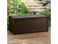 XL Size 454L Waterproof Lockabl Garden Storage Bench Box