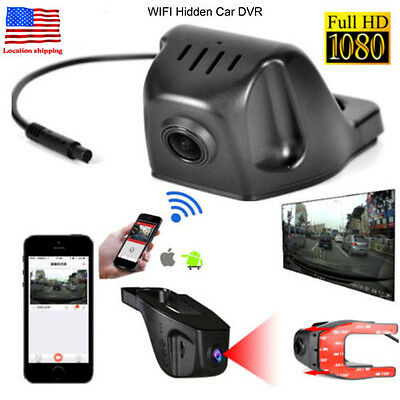 Wifi 1080P 170  Playback Hidden Car Dvr Hd Video Camera Recorder Night Vision