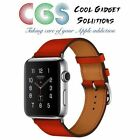 Orange Leather Band Smart Watches