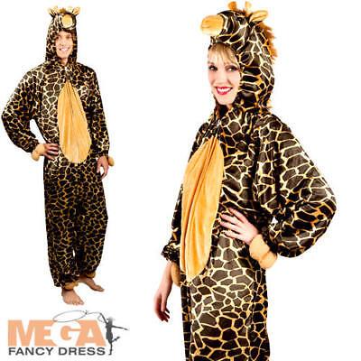 Giraffe Jumpsuit Adults Fancy Dress Animal Safari Book Week Mens Ladies Costume - Giraffe Costume Men