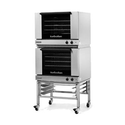 Moffat E28m42c Double Stacked Electric Turbofan Convection Oven With Casters