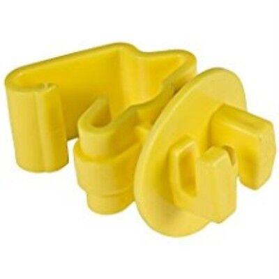 Zareba ITY-Z Standard Snug-fitting T-Post Insulator, Yellow, 25 per Bag