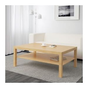 Ikea lack coffee table birch effect