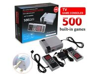BRAND NEW Mini Retro TV Game Console NES 8Bit Classic 500 Built-in Games + 2 Controllers