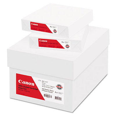 Canon Coated Two-Sided Gloss Text Paper, 8-1/2 x 11, 100 lb., WH, 500/Ream,...